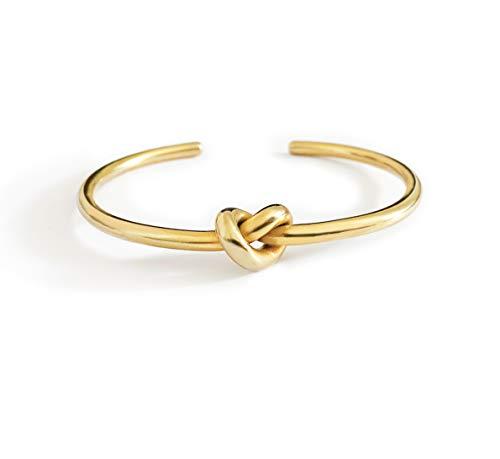 Altitude Boutique Knot Bangle Bracelet Thick 18K Gold Plated (Gold)