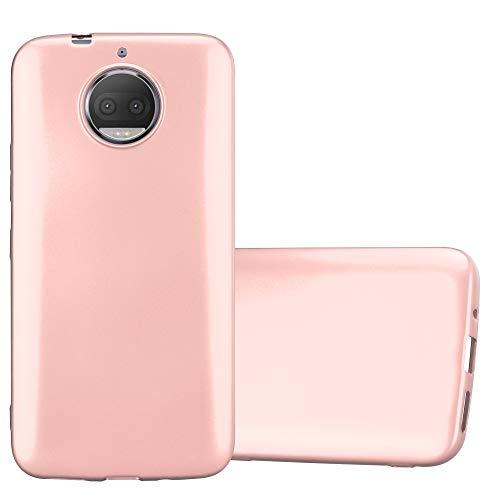 Cadorabo Custodia per Motorola Moto G5S Plus in Oro Rosa Metallico - Morbida Cover Protettiva Sottile di Silicone TPU con Bordo Protezione - Ultra Slim Case Antiurto Gel Back Bumper Guscio