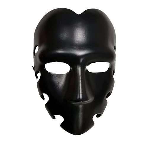 Masked Man Mask Calamar Juego Accesorios de Disfraz Hombre Enmascarado Cosplay Mscara Negra Masquerade Halloween Props (camarero)