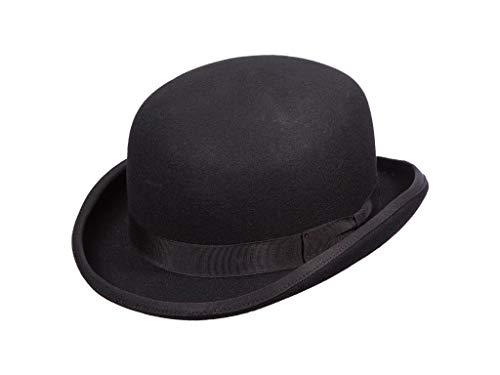 Scala Classico Men's Wool Felt Bowler Hat, Black, X-Large -  WF507-BLK4