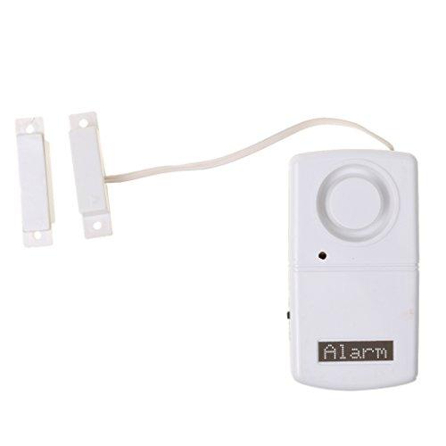 perfk Alarma de Puerta de Entrada Alarma Antirrobo Sensor de Seguridad para El Hogar