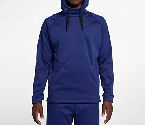 Nike Men's THRMA Training Hoodie, Blue Void/ Black, X-Large