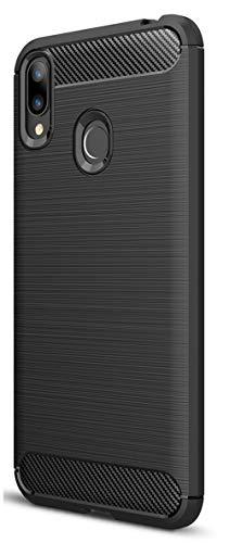 XINFENGDI ASUS Zenfone Max M2(ZB633KL) Hülle, Tasche mit Stoßdämpfung Robuste TPU Stylisch Karbon Design Handyhülle Hülle Hülle für ASUS Zenfone Max M2(ZB633KL) - Schwarz