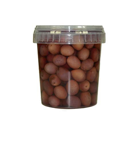 Hymor violette Oliven - 2x 550g Behälter - Oliven aus Marokko lila Olive violett Marokkanische Olive eingelegt in Lake vegan, glutenfrei, zu Tapas, Salaten, beim Kochen