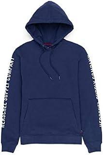 Herschel Pullover Hoodie Sleeve Print Peacoat/White-L