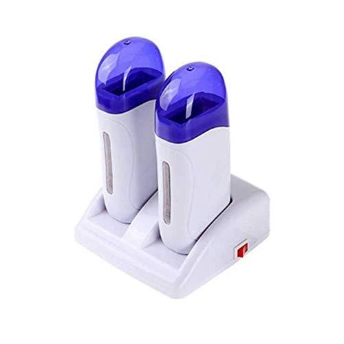 Calentador Cera Tibia depilación de cartucho calentador roll on calentador de cera Tibia Roll-On para Depilación Profesional (Azul)