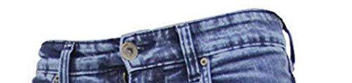 True Face - Pantaloni aderenti da uomo in denim, pantaloni elasticizzati, cerniera lampo, cotone elasticizzato, abbigliamento casual, 5 tasche, tutte le misure di vita e gambe in blu, grigio, bianco, nero Tf021 - Blu medio W32 / L32