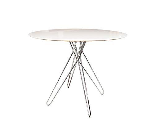 meubletmoi mesa redonda 90 cm Blanca Estilo Contemporáneo épuré ...