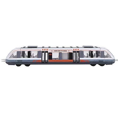Tire hacia atrás del juguete del tren, simulación de aleación de tren modelo de coche de juguete no tóxico colorido tren juguetes de metal tren subterráneo modelo regalo juguetes educativos(blanco)