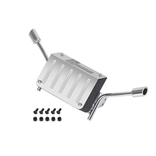 DishyKooker Auspuffrohr aus Metall für 1/10 RC K5 Blazer Trax-x-x-a-s Trx4 Tail für Chev-ro-Let 82076-4 Trx4 K5