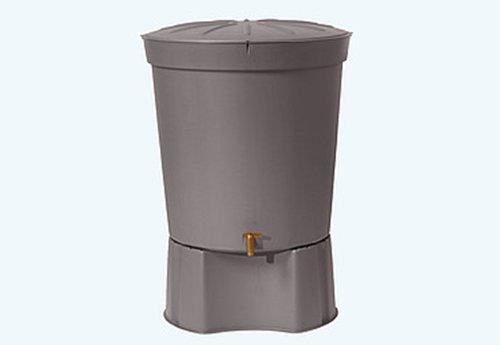 Graphite Grey 300 L Lanzarote Water Butt With Stand Garden Rain Water Barrel Tank Rainwater Harvesting
