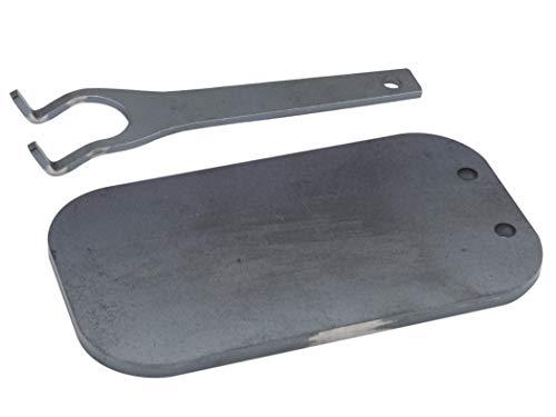 アウトドア 黒皮 鉄板 メスティン収納可 板厚6.0mm