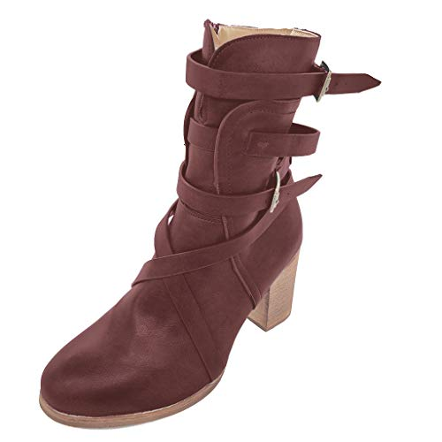 profesional ranking Botas Mujer Invierno Tacones Altos Zapatos Casuales Estilo Romano Retro… elección