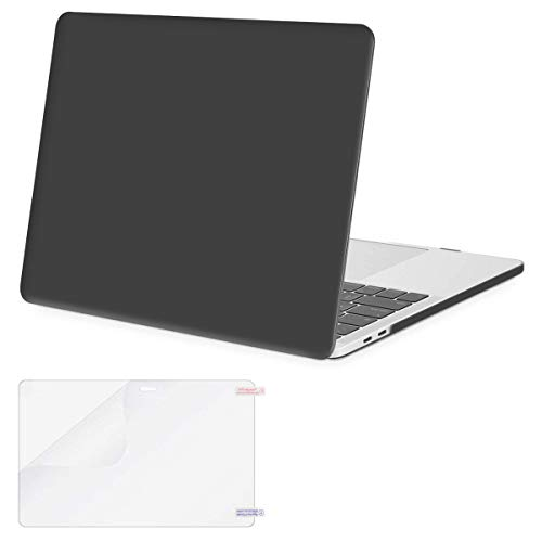 MOSISO MacBook Pro 13 inch Case 2019 2018 2017 2016 Release A2159 A1989 A1706 A1708, Plastic Hard Shell Case&Screen Protector Compatible with MacBook Pro 13 inch with/Without Touch Bar, Space Gray