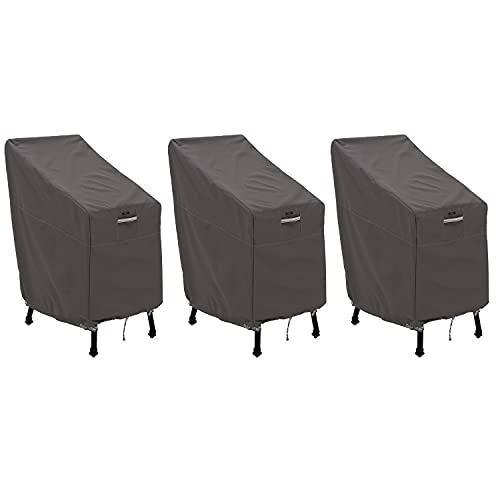 Classic Accessories Ravenna Water-Resistant - Juego de 3 Fundas para sillas de jardín (66 Pulgadas)