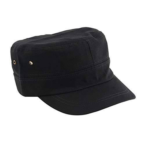 Greatangle Lässige Vintage Allgleiches Unisex Volltonfarbe Army Cap Cadet Hut Militär Flat Top Verstellbarer Baseball-Hut