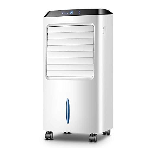 XXKT Condizionatore Ventola Raffreddatore portatile, evaporativo Refrigeratori, raffreddamento Ventilatore oscillante senza torretta con umidificatore a controllo remoto-bianco