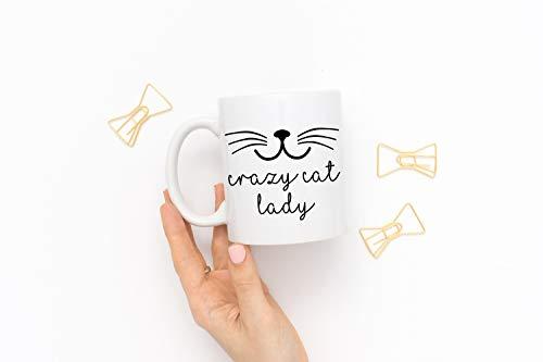 Crazy Cat Lady Tasse - Tasse, Witzige Katzentasse, Geschenkidee für Katzenfans, Crazy Cat Lady Mug, Crazy Cat Lady