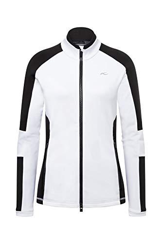 KJUS Women Formula Midlayer Jacket Colorblock-Schwarz-Weiß, Damen Jacke, Größe 38 - Farbe White - Black