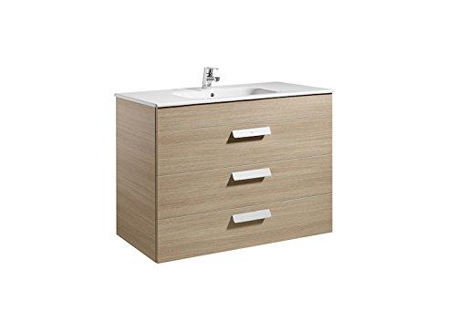Roca A855976155 - Debba (mueble 3 cajones+lavabo) 1000mm roble texturizado