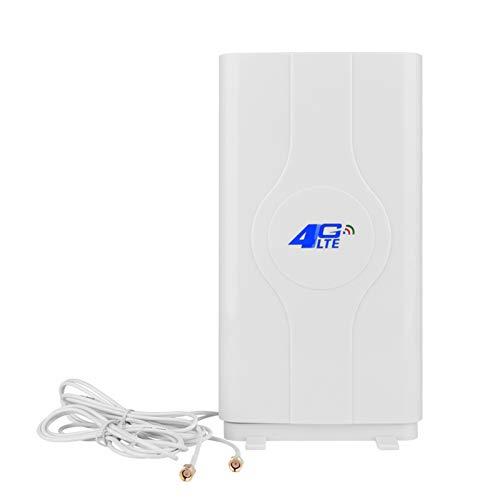 4G LTE Antenna SMA Connector, NETVIP 4G Antenna 35dBi Dual Mimo Antena de Amplificador de Señal de Alta Ganancia Antenna Wifi Recepción De Banda Ancha Móvil Antena para Huawei B593 B880 B683 B686 B310