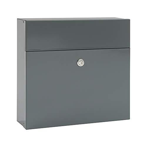 MEFA Briefkasten Serenade 161 (Farbe grau, Postkasten mit Sicherheitsschloss, Größe 400x350x140 mm) 161500DE