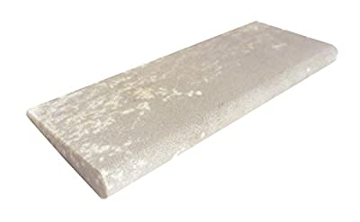 "Genuine Arkansas Hard (Fine) Slip Stone Whetstone for Sharpening Carving Tools 4"" X 1 5/8"" with 1/8"" and 5/16"" Radius FAS-14-P"