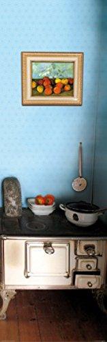 1art1 Küchen - Meine Gemütliche Landhausküche Mit Nostalgie Herd, 1-Teilig Fototapete Poster-Tapete 250 x 79 cm