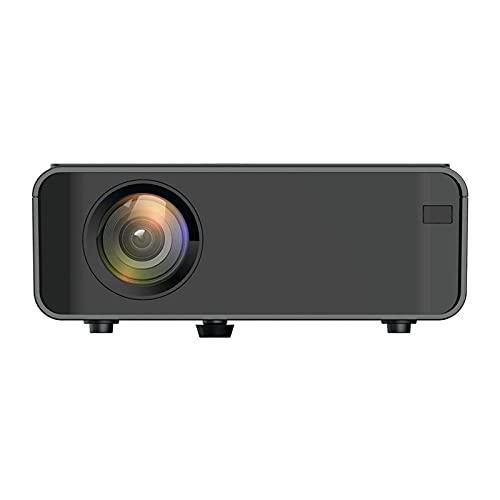 ELXSZJ XTZJ Mini proyector con 1080p admitido, proyector portátil compatiable con iOS/conexión Android, HDMI, PS4, VGA, USB para Entretenimiento en el hogar y Actividades al Aire Libre