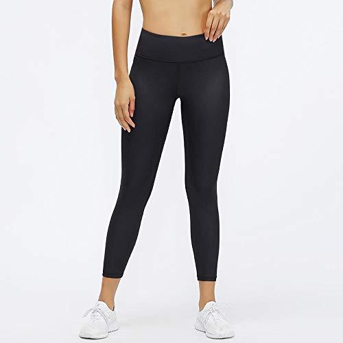 No Transparenta Cintura Alta Pantalón,Yoga Sensación cuero vegano apretado, pantalón mujer para correr, cintura elástica alta, leggings pitillo sólidos-Black_S,Leggings No Transparenta Cintura Alta