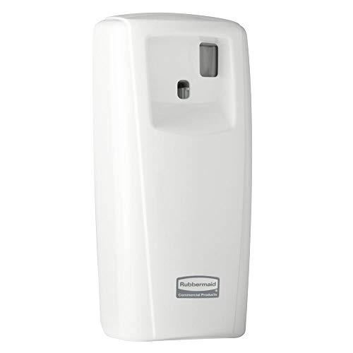 Rubbermaid Commercial 1793541 Standard LCD Display, Aerosol Air Freshener Dispenser System, White, 3.9w x 4.1d x 9.2h