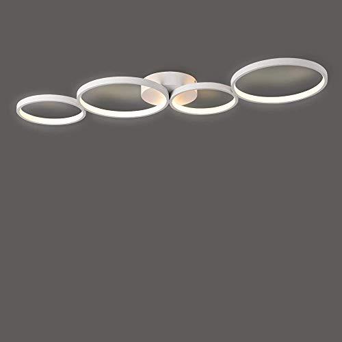 LED-Deckenleuchten Moderne Ringförmige Lampen 88cm Länge Aluminium-Silikon-Material für Wohnzimmer Kinderzimmer Büro 35W 2450 Lumen 3000K Warmweiß Energieeffizienz Klasse A++