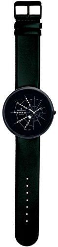 SHEPHERD 15105 Spinnenuhr schwarz Damen Armbanduhr (große Version) 50 mm Durchmesser Quarz