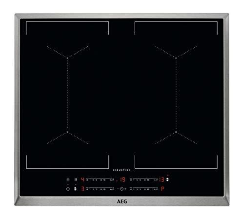 AEG IKE6445AXB Autarkes Kochfeld/Induktion/Slider-Bedienung / 60 cm/Edelstahlrahmen / 4 Kochzonen/Bridge-Funktion/Powerfunktion/Kindersicherung