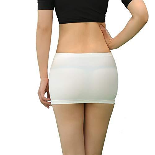 LUOSI Minigonne a Rete da Donna Minigonna Trasparente da Donna minigonne a Rete Micro Corte Calde Aderenti Sexy con gonne Aderenti in Prospettiva (Color : White, Size : 160CM-170CM 45KG-60KG)