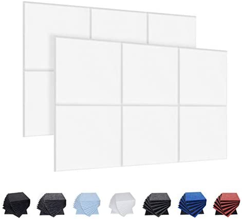 12 Pack Acoustic Panels 12 X 12 X 0 4 Inches Studio Foam Sound Proof Padding High Density Beveled product image