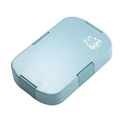 Fiambrera para niños, contenedor de almacenamiento de alimentos con 6 compartimentos para niños adultos o escuela de trabajo, azul, 920 ml, seis puntos