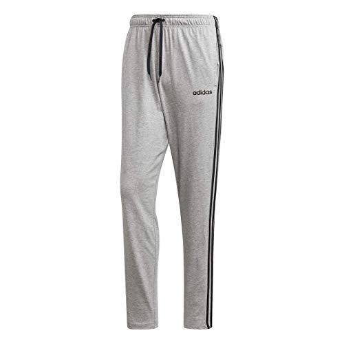 adidas Essentials 3 Stripes Tapered Pant Sj Open Hem Pantalones de chándal, Gris Jaspeado Medio/Negro/Gris sólido Mgh, XXXX-Large Haut para Hombre
