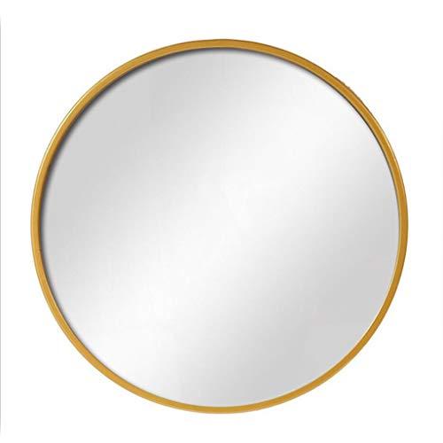 Miroir Décoratif Fixé Au Mur De Cadre Rond De Fer En Métal De Miroir De Salle De Bains (Couleur : Or, taille : 70cm)