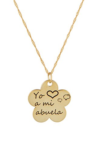 Córdoba Jewels | Gargantilla en Plata de Ley 925 bañada en Oro. Diseño Yo Quiero A Mi Abuela
