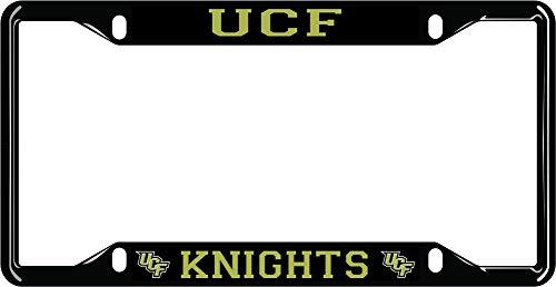 Elite Fan Shop UCF Knights License Plate Frame Black