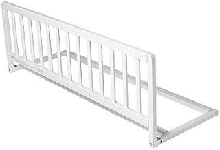 Safetots - Barandilla protectora para cama, de madera, extraancha, color blanco