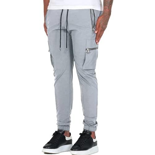 Huntrly Pantalones Casuales para Hombre Pantalones Deportivos y de Ocio Europeos y Americanos Pantalones...