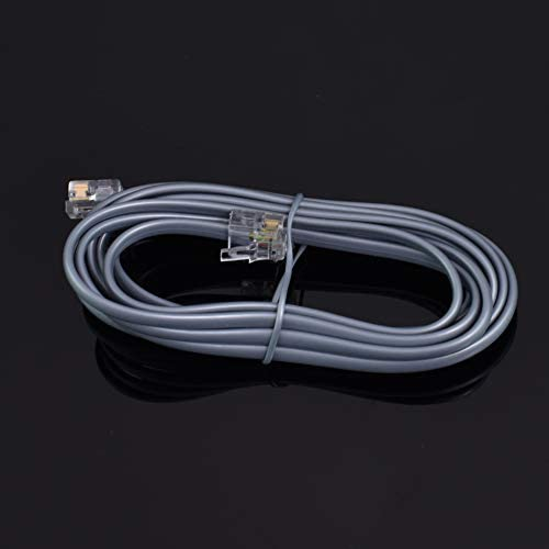 7 FT feet RJ11 6P6C Modular Telephone Extension Cable Phone Cord Line Wire (Grey)