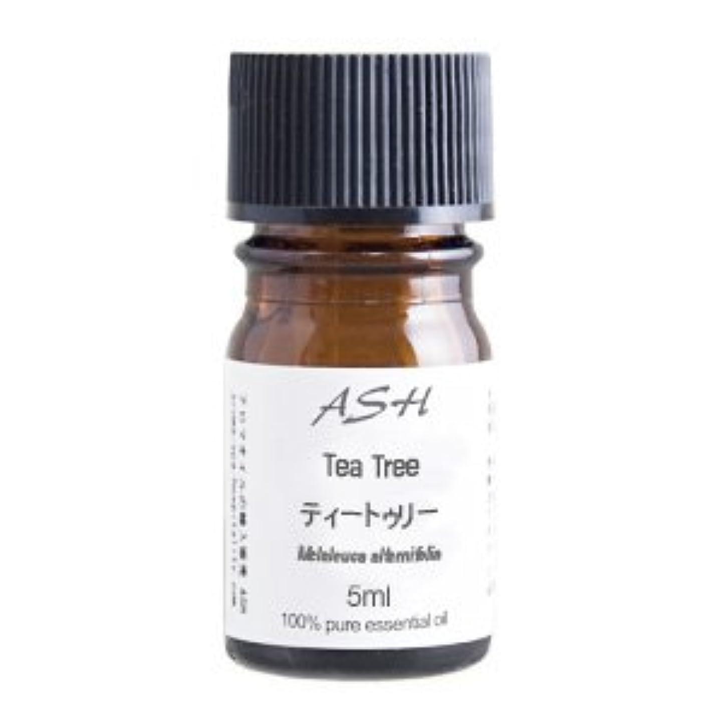 出席威する帰するASH ティートゥリー (ティーツリー) エッセンシャルオイル 5ml AEAJ表示基準適合認定精油
