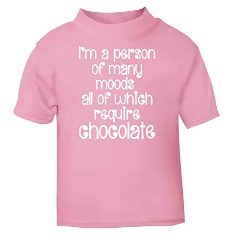 Flox Creative T-Shirt pour bébé Inscription « Person of Many Moods » Chocolat - Rose - 2 Ans
