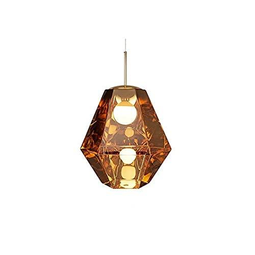Lava Mirror Chandeliers Polygon Diamond Diamond Techo Colgante Luz Rhombus Linterna Linterna Decorativa Lámpara de Pared Colgando Lámpara para sala de estar Bar Compartor Mesa de mezcla Tienda de bell