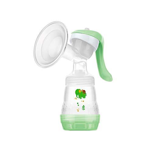 MAM E102 manuelle Milchpumpe, bequem und effizient, Milchpumpe, Trichter für müheloses Pumpen, inkl. 1 x Easy Start Anti-Kolik-Flasche, 0+ Monate