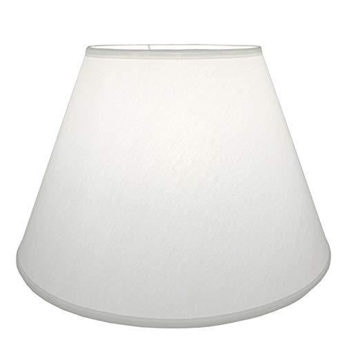 MYMAO Pantalla, Tela de Lino lámparas de Mesa y lámparas de pie,White a,50CM