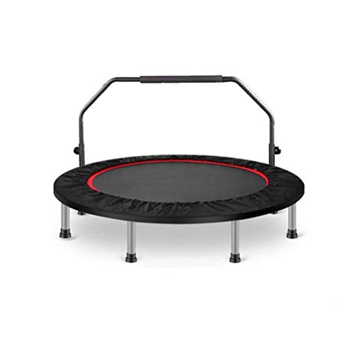 Fitness Trampoline for Adults, Small Home Trampoline, Child Parent-child Motion Bouncer, Collapsible Strengthen Waist Drum Spring Safety Galvanized Foot Tube Rebounder Trampoline Best Aerobic Exercise
